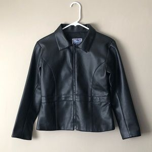 Big Chill Outerwear Girls Faux Leather Moto Jacket